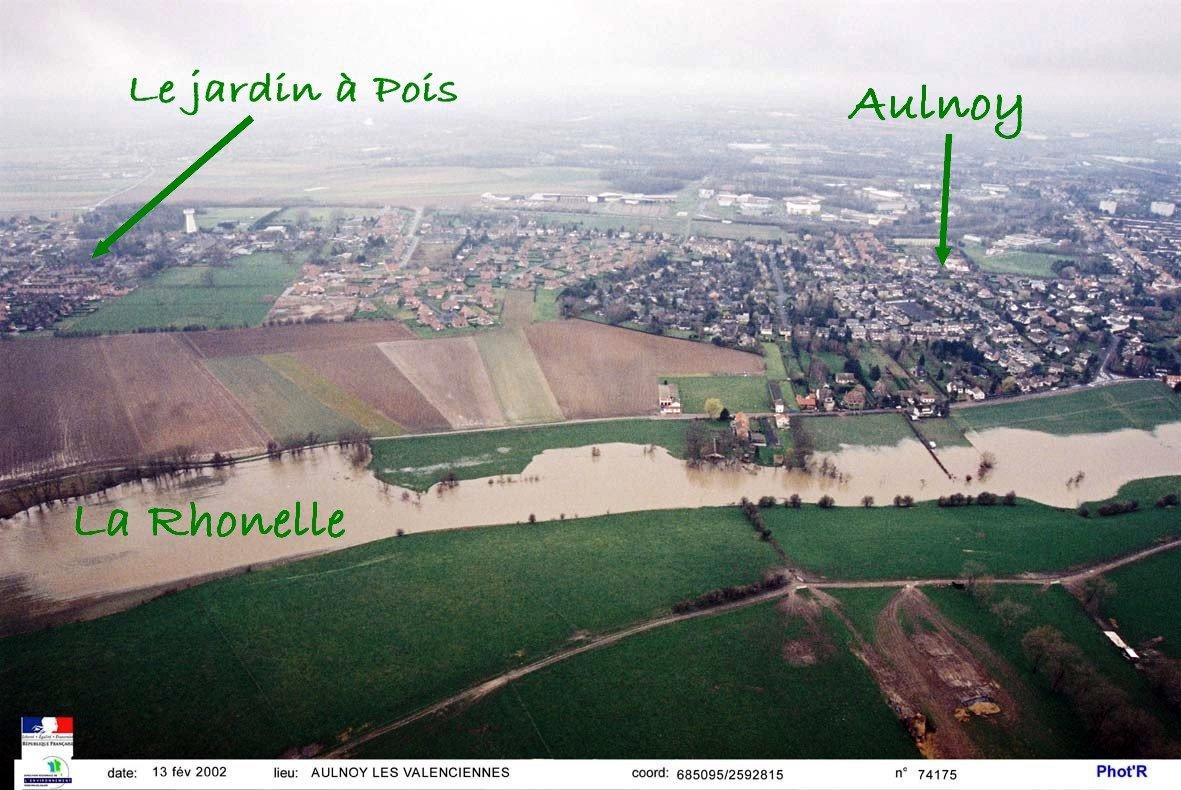 La-Rhonelle-inondation-20021 Escaut dans Rhonelle
