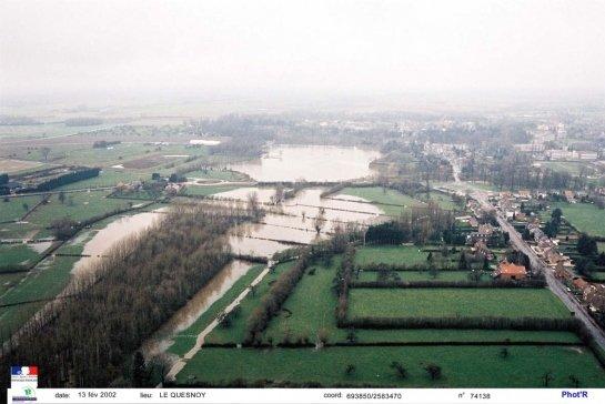 Le-Quesnoy-Crue-de-la-Rhonelle-en-2002 histoire