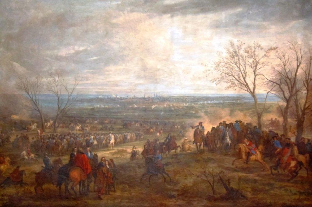 louis-xiv-a-famars-en-1677.siege-de-valenciennes Inondation