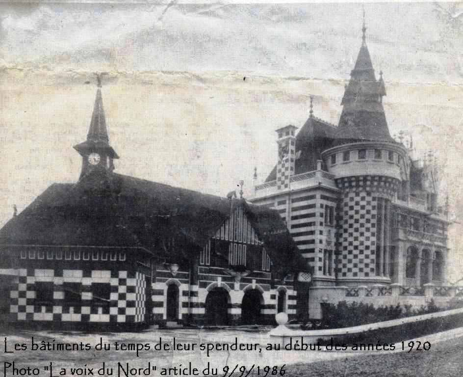 Famars-1920-Manoir-de-Famars Harpignies dans fouilles