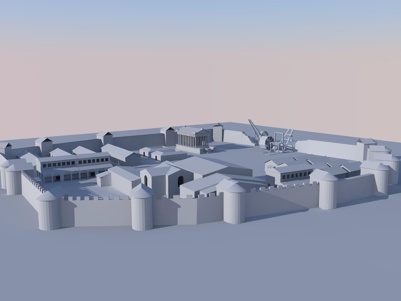 Le-Castellum-de-FAMARS-vue-3D Castellum dans Château