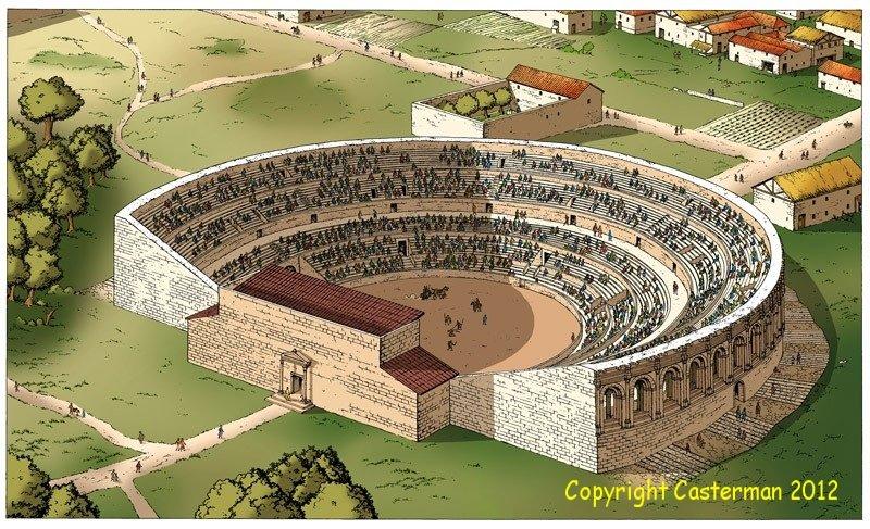 Amphithéatre-de-Luteéce2 Archéologie dans Famars
