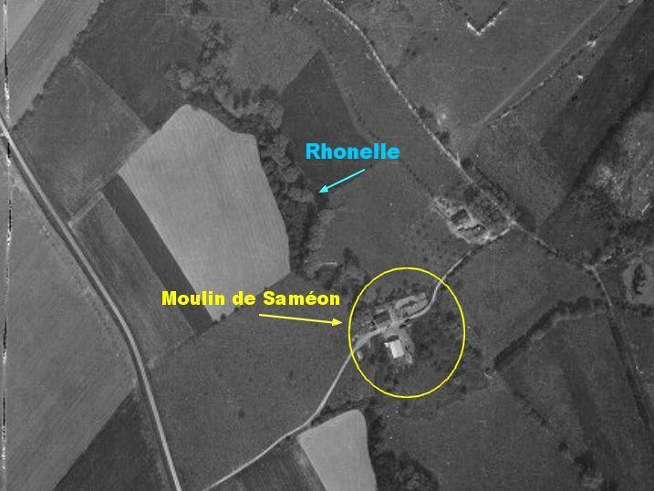Moulin-de-Saméon-vue-aaérienne-1959 Moulin dans histoire