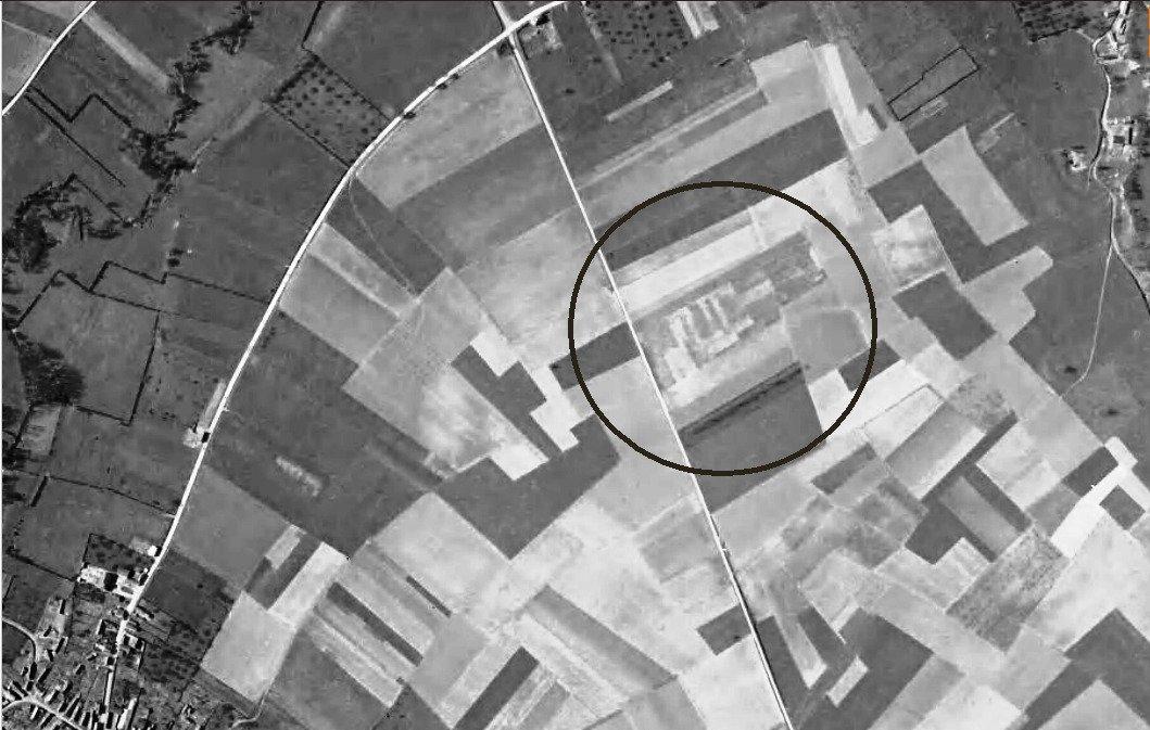 Bermerain Cliché IGN du 31-12-1956 recadré cerclé