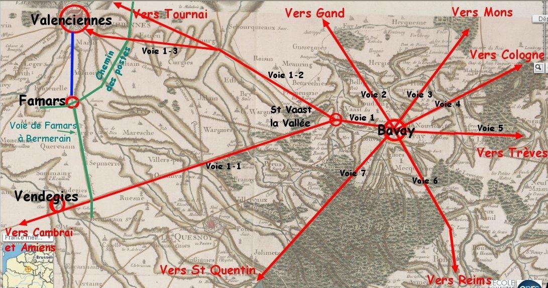 bavay-les-7-voies-antiques Bavay dans Famars