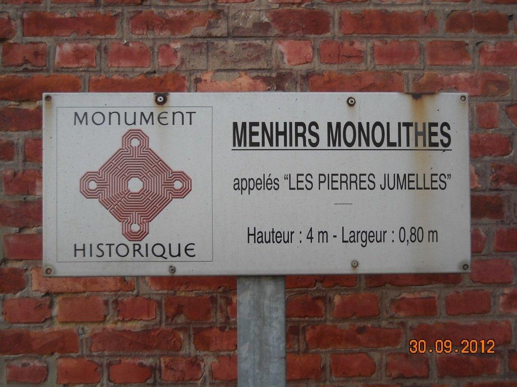cambrai-menhirs-monolithes Néolithique