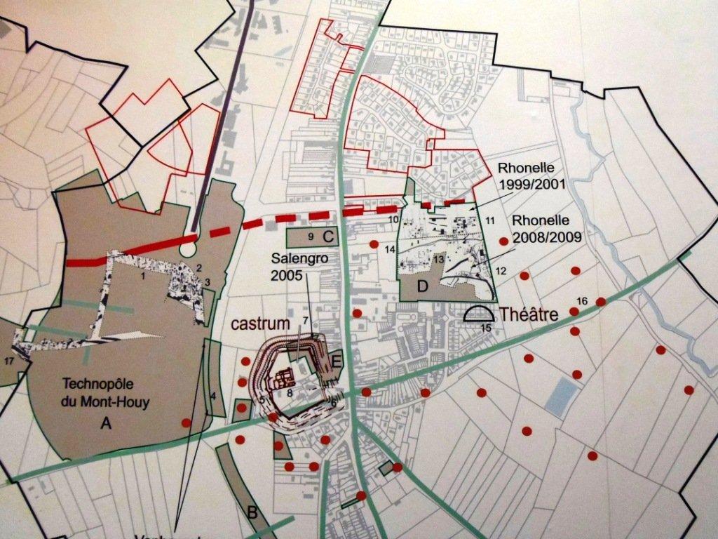 plan-des-fouilles Exposition dans fouilles