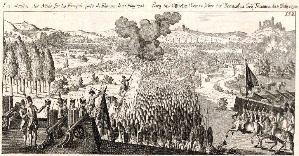 Victoire des alliés sur les Français près du camp de Famars-Source Bnf Gallica