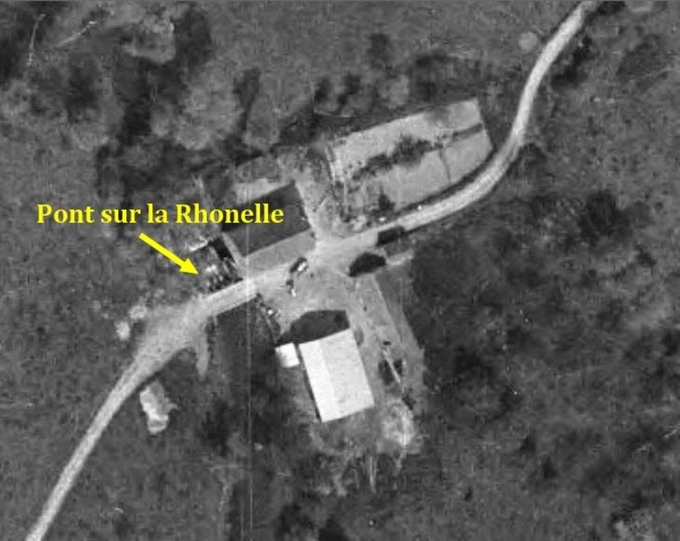 Vue aérienne 1959 moulin de Saméon gros plan