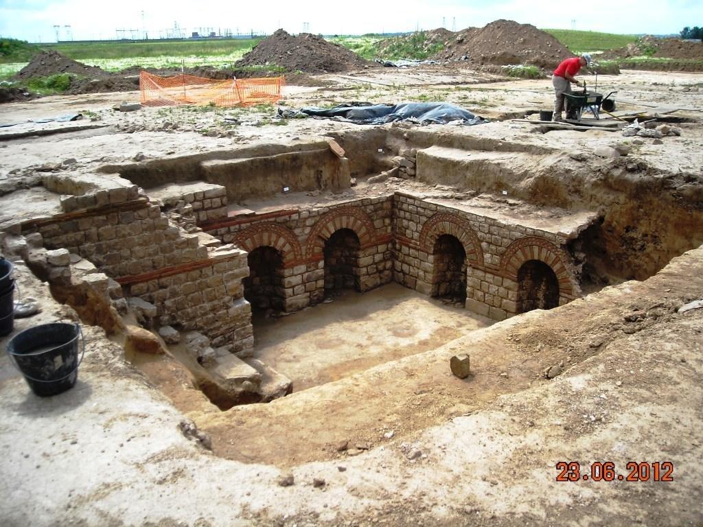 Une des villas -Portes ouvertes fouilles technopole  23 juin 2012